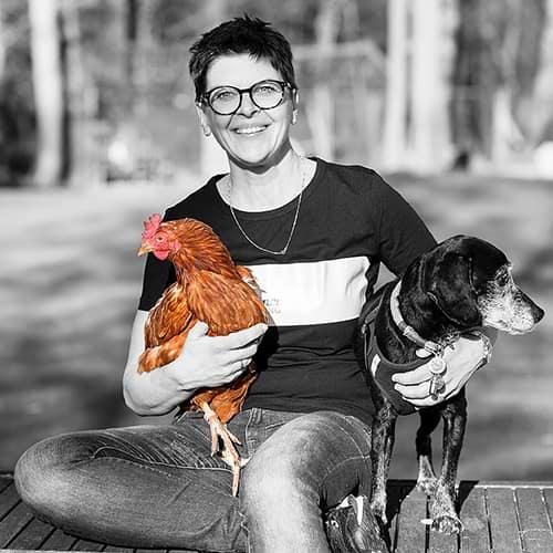 Hühnerrettung NRW - Abbildung Ariane Schürmann