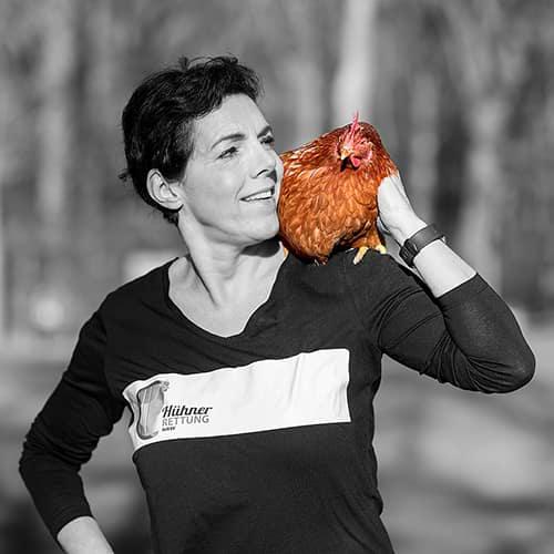 Hühnerrettung NRW - Abbildung Birgit Raukamp
