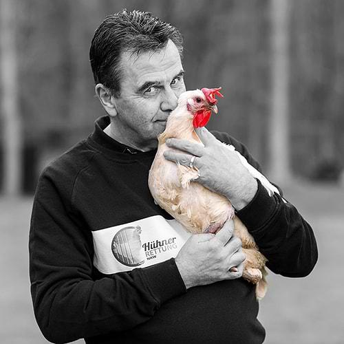 Hühnerrettung NRW - Abbildung Robert Becker